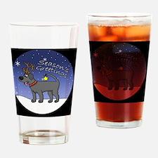 xmaslab_black_ornament Drinking Glass