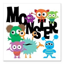 """Monsters Square Car Magnet 3"""" x 3"""""""