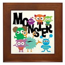 Monsters Framed Tile