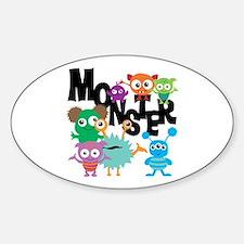 Monsters Sticker (Oval)