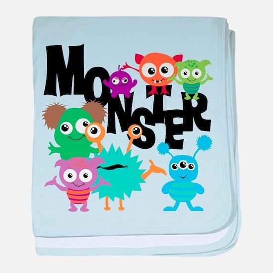 Monsters baby blanket
