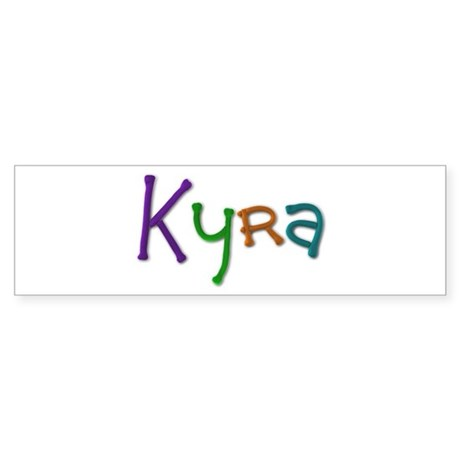 Kyra Play Clay Bumper Sticker 10 Pack