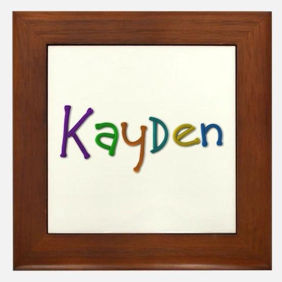 Kayden Play Clay Framed Tile