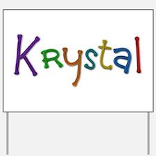 Krystal Play Clay Yard Sign