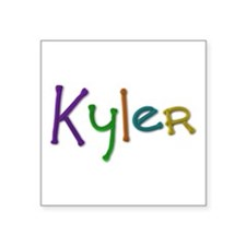 Kyler Play Clay Square Sticker