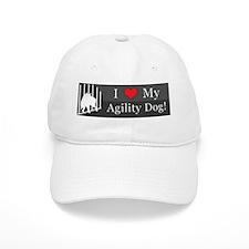 loveagilitydog_silver Baseball Cap