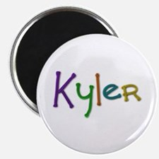 Kyler Play Clay Round Magnet