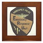 Minneapolis PD E.R.U. Framed Tile