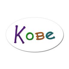 Kobe Play Clay 20x12 Oval Wall Decal