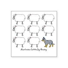 "auscattle_herding Square Sticker 3"" x 3"""