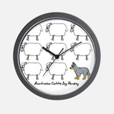 auscattle_herding Wall Clock
