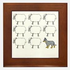 auscattle_herding_blk Framed Tile