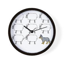 auscattle_herding_blk Wall Clock