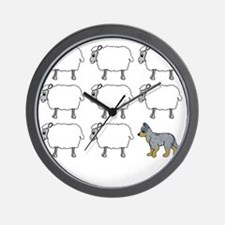 auscattle_herding_blk Wall Clock