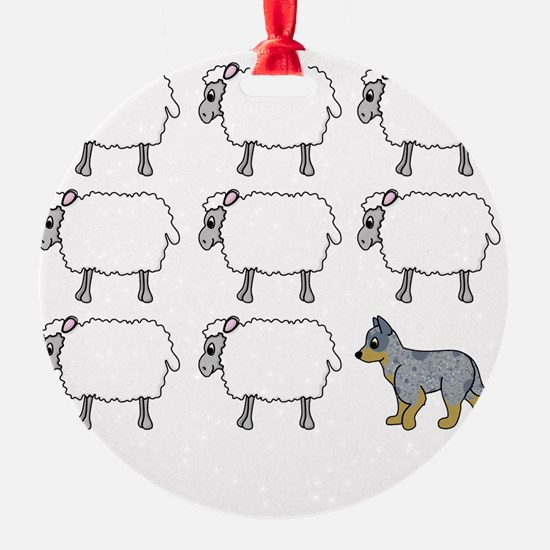 auscattle_herding_blk Ornament