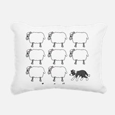 bordercollie_herding Rectangular Canvas Pillow