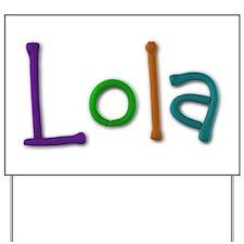 Lola Play Clay Yard Sign