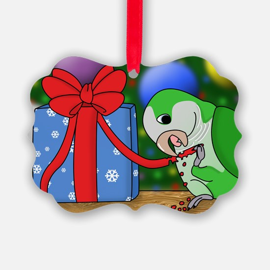 pickleeatingribbon_card Ornament