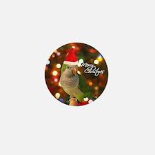 quaker_santa_ornament2 Mini Button