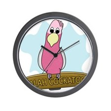 galahcockatoo Wall Clock