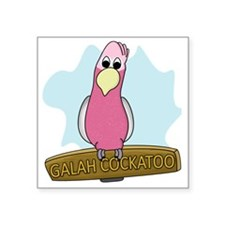 "galahcockatoo Square Sticker 3"" x 3"""