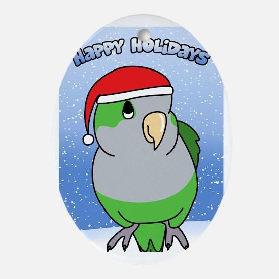 quaker_santa_holidays_card Oval Ornament