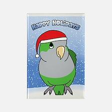 quaker_santa_holidays_card Rectangle Magnet