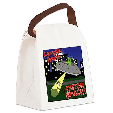 corgisouterspace_tile Canvas Lunch Bag