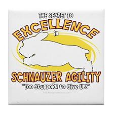 schnauzer_excellence_blk Tile Coaster