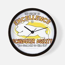 schnauzer_excellence_blk Wall Clock