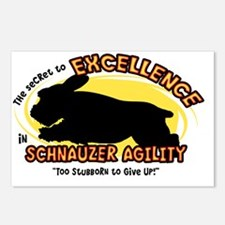 schnauzer_excellence_oval Postcards (Package of 8)