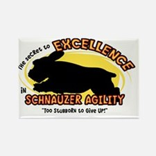 schnauzer_excellence_oval Rectangle Magnet