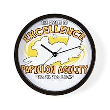 papillon_excellence_blk Wall Clock