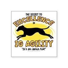"italiangreyhound_excellence Square Sticker 3"" x 3"""