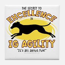 italiangreyhound_excellence Tile Coaster