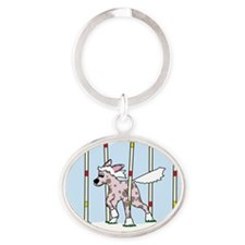 chinesecrested_agility Oval Keychain