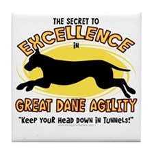 greatdane_excellence Tile Coaster
