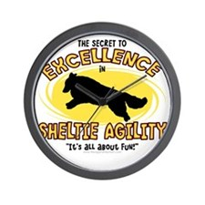 sheltie_excellence Wall Clock
