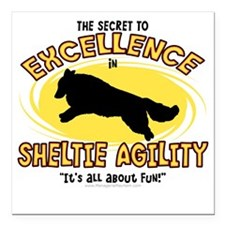 "sheltie_excellence Square Car Magnet 3"" x 3"""