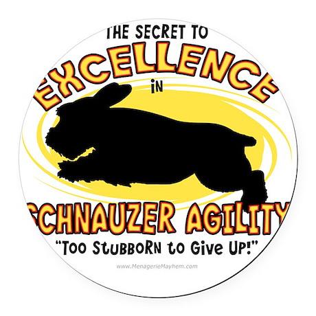 schnauzer_excellence Round Car Magnet