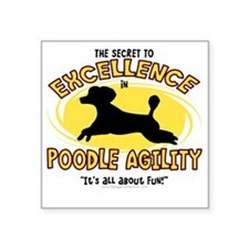 "poodle_excellence Square Sticker 3"" x 3"""
