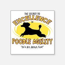 "poodle_excellence Square Sticker 3"" x 3"""