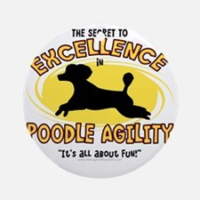 poodle_excellence Round Ornament