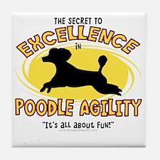 poodle_excellence Tile Coaster