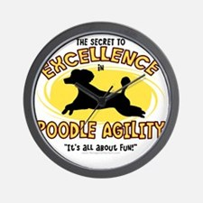 poodle_excellence Wall Clock