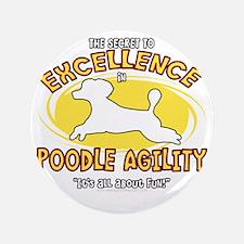 """poodle_excellence_blk 3.5"""" Button"""