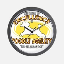 poodle_excellence_blk Wall Clock