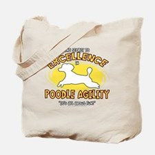 poodle_excellence_blk Tote Bag