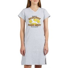 poodle_excellence_blk Women's Nightshirt