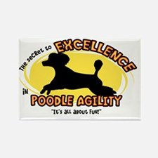 poodle_excellence_oval Rectangle Magnet
